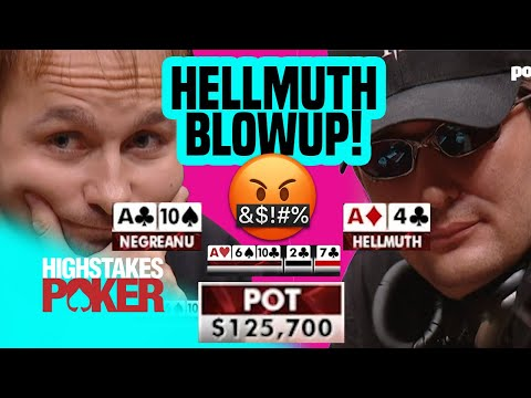 Phil Hellmuth Loses His Mind!   High Stakes Poker
